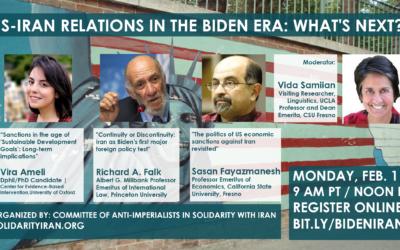 Feb. 1, Online Event: US-Iran Relations in the Biden Era: What's Next?